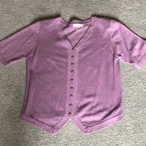 Women's short sleeve sweater top
